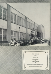 Page 5, 1953 Edition, Harrold Junior High School - Herald Yearbook (Greensburg, PA) online yearbook collection