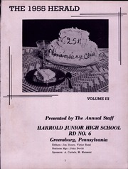 Page 5, 1955 Edition, Harrold Junior High School - Herald Yearbook (Greensburg, PA) online yearbook collection