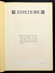 Page 15, 1922 Edition, Cedar Crest College - Espejo Yearbook (Allentown, PA) online yearbook collection