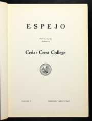 Page 9, 1922 Edition, Cedar Crest College - Espejo Yearbook (Allentown, PA) online yearbook collection