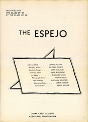 Page 3, 1957 Edition, Cedar Crest College - Espejo Yearbook (Allentown, PA) online yearbook collection