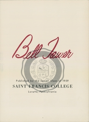 Page 7, 1959 Edition, St Francis University - Bell Tower Yearbook (Loretto, PA) online yearbook collection