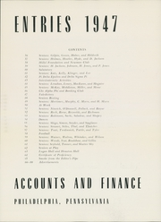 Page 7, 1947 Edition, University of Pennsylvania Evening School of Accounts and Finance - Closing Entries Yearbook (Philadelphia, PA) online yearbook collection