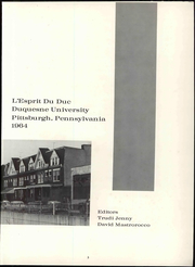 Page 9, 1964 Edition, Duquesne University - L Esprit Du Duc Yearbook (Pittsburgh, PA) online yearbook collection