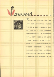 Page 10, 1935 Edition, Geneva College - Genevan Yearbook (Beaver Falls, PA) online yearbook collection