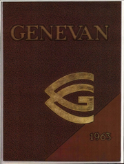 1963 Edition, Geneva College - Genevan Yearbook (Beaver Falls, PA)
