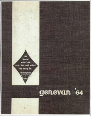 1964 Edition, Geneva College - Genevan Yearbook (Beaver Falls, PA)