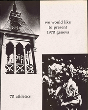 Page 5, 1970 Edition, Geneva College - Genevan Yearbook (Beaver Falls, PA) online yearbook collection