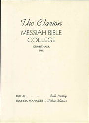 Page 7, 1943 Edition, Messiah College - Clarion Yearbook (Grantham, PA) online yearbook collection