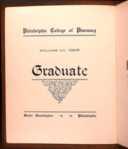 Page 10, 1905 Edition, Philadelphia College of Pharmacy - Graduate Yearbook (Philadelphia, PA) online yearbook collection
