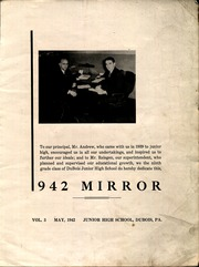 Page 3, 1942 Edition, DuBois Area Middle School - Mirror Yearbook (Du Bois, PA) online yearbook collection