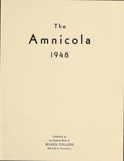 Page 2, 1948 Edition, Wilkes University - Amnicola Yearbook (Wilkes Barre, PA) online yearbook collection