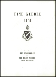 Page 7, 1951 Edition, Grier School - Pineneedle Yearbook (Birmingham, PA) online yearbook collection