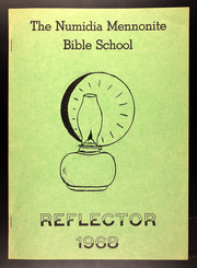 1968 Edition, Numidia Mennonite Bible School - Reflector Yearbook (Numidia, PA)
