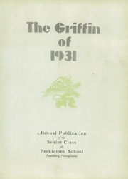 Page 5, 1931 Edition, Perkiomen School - Griffin Yearbook (Pennsburg, PA) online yearbook collection