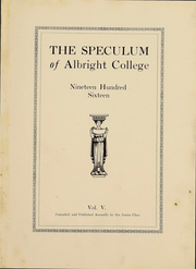 Page 3, 1916 Edition, Albright College - Speculum Yearbook (Reading, PA) online yearbook collection