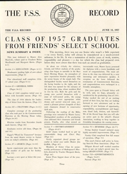 Page 9, 1957 Edition, Friends Select School - Record Yearbook (Philadelphia, PA) online yearbook collection