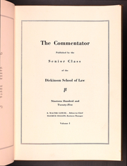 Page 7, 1925 Edition, Dickinson School of Law - Commentator Yearbook (Carlisle, PA) online yearbook collection