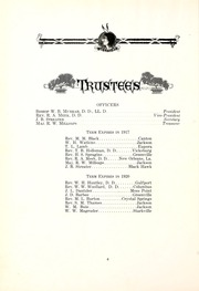 Page 12, 1916 Edition, Millsaps College - Bobashela Yearbook (Jackson, MS) online yearbook collection