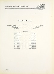 Page 15, 1922 Edition, Millsaps College - Bobashela Yearbook (Jackson, MS) online yearbook collection
