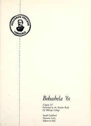 Page 5, 1961 Edition, Millsaps College - Bobashela Yearbook (Jackson, MS) online yearbook collection
