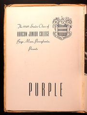 Page 8, 1949 Edition, Harcum College - Purple Patches Yearbook (Bryn Mawr, PA) online yearbook collection