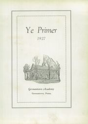 Page 9, 1927 Edition, Germantown Academy - Ye Primer Yearbook (Fort Washington, PA) online yearbook collection