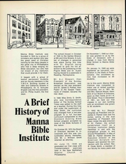 Page 8, 1975 Edition, Manna Bible Institute - Sower Yearbook (Philadelphia, PA) online yearbook collection