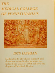 Page 5, 1978 Edition, Medical College of Pennsylvania - Iatrian Yearbook (Philadelphia, PA) online yearbook collection