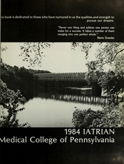 Page 5, 1984 Edition, Medical College of Pennsylvania - Iatrian Yearbook (Philadelphia, PA) online yearbook collection