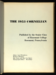Page 5, 1953 Edition, Rosemont College - Cornelian Yearbook (Rosemont, PA) online yearbook collection