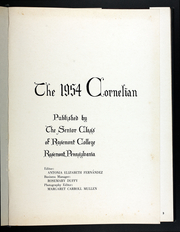 Page 5, 1954 Edition, Rosemont College - Cornelian Yearbook (Rosemont, PA) online yearbook collection