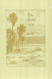 Page 9, 1929 Edition, Redlands High School - Makio Yearbook (Redlands, CA) online yearbook collection