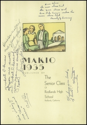 Page 7, 1935 Edition, Redlands High School - Makio Yearbook (Redlands, CA) online yearbook collection