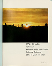 Page 5, 1975 Edition, Redlands High School - Makio Yearbook (Redlands, CA) online yearbook collection