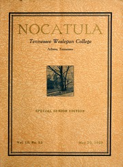 Tennessee Wesleyan College - Nocatula Yearbook (Athens, TN) online yearbook collection, 1929 Edition, Page 1