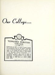 Page 5, 1958 Edition, Tennessee Wesleyan College - Nocatula Yearbook (Athens, TN) online yearbook collection