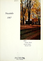 Page 5, 1967 Edition, Tennessee Wesleyan College - Nocatula Yearbook (Athens, TN) online yearbook collection