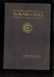 1934 Edition, Central High School - Black And Gold Yearbook (Providence, RI)