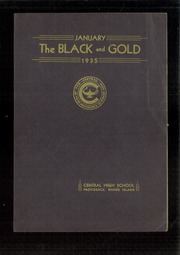 1935 Edition, Central High School - Black And Gold Yearbook (Providence, RI)