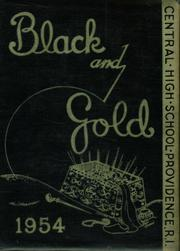 1954 Edition, Central High School - Black And Gold Yearbook (Providence, RI)