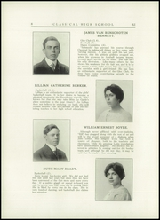Page 12, 1914 Edition, Classical High School - Caduceus Yearbook (Providence, RI) online yearbook collection