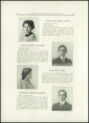 Page 16, 1914 Edition, Classical High School - Caduceus Yearbook (Providence, RI) online yearbook collection