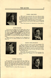 Page 11, 1933 Edition, Woonsocket High School - Quiver Yearbook (Woonsocket, RI) online yearbook collection