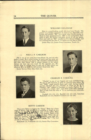 Page 16, 1933 Edition, Woonsocket High School - Quiver Yearbook (Woonsocket, RI) online yearbook collection