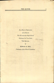 Page 5, 1933 Edition, Woonsocket High School - Quiver Yearbook (Woonsocket, RI) online yearbook collection