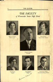 Page 6, 1933 Edition, Woonsocket High School - Quiver Yearbook (Woonsocket, RI) online yearbook collection