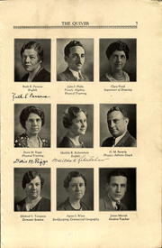 Page 9, 1933 Edition, Woonsocket High School - Quiver Yearbook (Woonsocket, RI) online yearbook collection