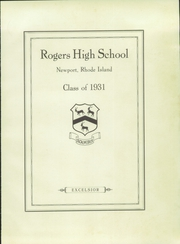 Page 7, 1931 Edition, Rogers High School - Binnacle Yearbook (Newport, RI) online yearbook collection