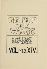 Page 2, 1912 Edition, Hope High School - Blue and White Yearbook (Providence, RI) online yearbook collection